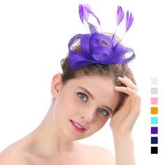 Dames Beau Organza avec Feather Chapeaux de type fascinator