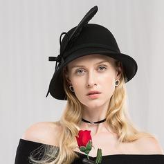 Dames Exquis/Qualité Coton avec Feather Disquettes Chapeau