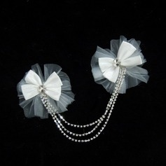Bowknot Satin/Tulle Flowers & Feathers