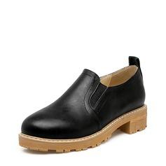 Женщины кожа Плоский каблук На плокой подошве обувь