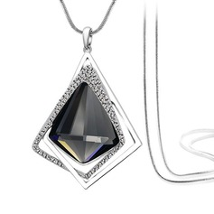In de mode Legering Steentjes Glas Dames Fashion Ketting (137166728)