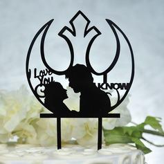 Kärlek är söt Akryl Tårtdekoration