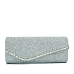 Elegante Renda/Espumante Glitter Embreagens/Porta Moedas de Noiva
