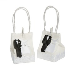 Tuxedo & Gown Handbag shaped Favor Bags (Set of 12)