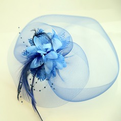 Ladies' Beautiful Net Yarn/Silk Flower Fascinators