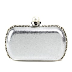 Unique Patent Leather With Pearl/Rhinestone Clutches