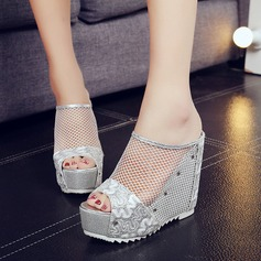 Women's Mesh Wedge Heel Sandals Wedges Slippers With Others shoes