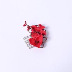Élégante Strass/Fleur en soie Des peignes et barrettes