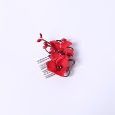 Elegant Rhinestone/Silk Flower Combs & Barrettes