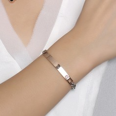 Lovely Rhinestones Stainless Steel With Rhinestone Women's Fashion Bracelets (Sold in a single piece)