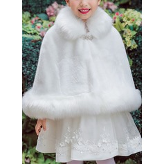 Faux Fur With Rhinestones Wraps (198187532)