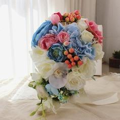 Håndbundet Silke Blomst Brude Buketter/Dekorationer (Sælges i et enkelt stykke) - Brude Buketter/Brudepige Buketter