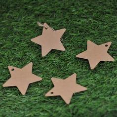 Звезды дизайн крафт-бумаги Тэги (набор из 50)