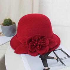 Signore Bella/Semplice/Piuttosto misto lana con Fiore di seta Cappello a bombetta / Cloche