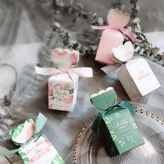 Tema Bastante Floral/Niza Caramelo en forma Papel para tarjetas Cajas y contenedores con Cintas