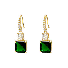 Ladies' Vintage Alloy Rhinestone Earrings For Bride