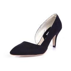 Wildleder Spule Absatz Absatzschuhe Geschlossene Zehe Schuhe