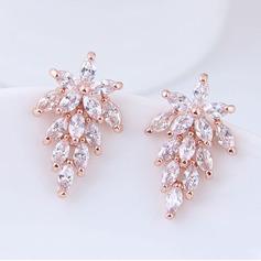Shining Zircon Copper With Zircon Women's Fashion Earrings