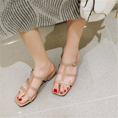 Femmes Similicuir Talon bottier Sandales avec Boucle chaussures