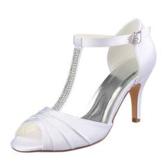Women's Plastics Stiletto Heel Peep Toe Pumps With Animal Print Applique