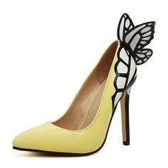 Vrouwen PU Stiletto Heel Pumps Closed Toe met strik schoenen