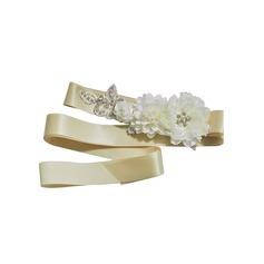 Einzigartig Satin Schleifenbänder/Stoffgürtel mit Blume