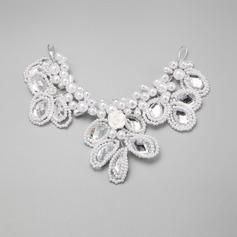 Elegante Strass/Pérolas de imitação/Cerâmica A testa de jóias