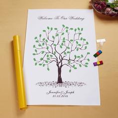 """""""Unser Hochzeits-Baum"""" Fingerabdruck Signatur Gerahmte Leinwand (101058557)"""