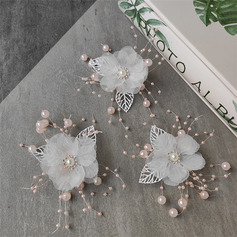 Uroczy Stop/Kwiat jedwabiu Grzebienie i Klamerki do Wlosów Z Weneckie Perły Komplet 6
