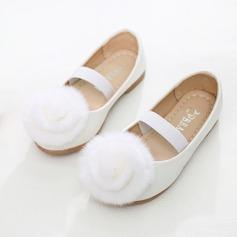 Flicka rund tå konstläder platt Heel Platta Skor / Fritidsskor Flower Girl Shoes