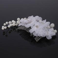 Элегантные Перлы ложный/шелковые цветы Комбс и заколки (Продается в виде единой детали)