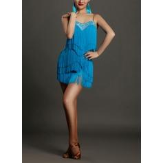 Mulheres Roupa de Dança Spandex do Dança Latina Vestidos