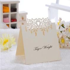 Hjertet udformning Perle-papir Bordkort