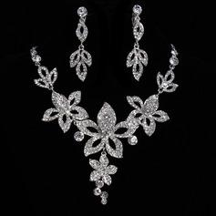Elegante Aleación/Diamantes de imitación De mujer Sistemas de la joyería