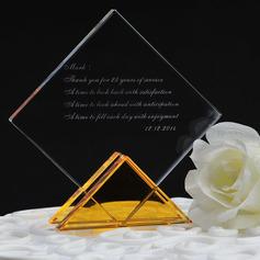 Personalizado Rhombus Cristal Topo de Bolo