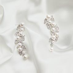 Beau Alliage/Strass Dames Boucles d'oreilles
