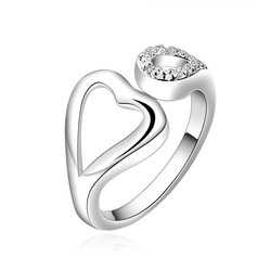 Luminoso Cobre/Zircon/Prateado Senhoras Anéis