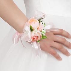 Bright Free-Form Satin Wrist Corsage