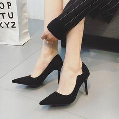 Frauen Wildleder Stöckel Absatz Absatzschuhe Geschlossene Zehe Schuhe
