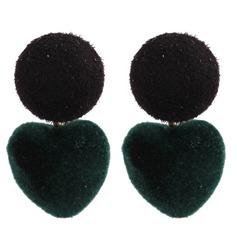 Nizza Legierung Stoff Frauen Art-Ohrringe (Set von 2)