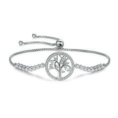 Platinum Plated Link & Chain Bransoletki dla nowożeńców Bransoletki Bolo Z drzewo - Walentynki Prezenty Dla Niej