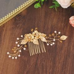 Schön Legierung Kämme und Haarspangen mit Strass/Venezianischen Perle (In Einem Stück Verkauft)