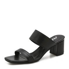 Femmes Cuir en microfibre Talon bottier Sandales Escarpins À bout ouvert chaussures