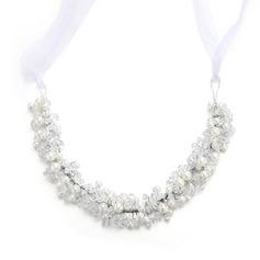 Damer Mote Crystal/Imitert Perle Pannebånd med Venetianske Perle/Crystal (Selges i ett stykke)
