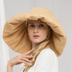 Señoras' Glamorosa/Simple Rafia paja Gorrita tejida / holgado