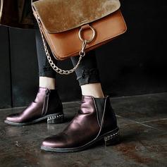 Kvinder Kunstlæder Stor Hæl Støvler Ankelstøvler med Juvel Hæl sko