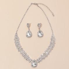 великолепный сплав/Стразы с горный хрусталь женские Комплекты ювелирных изделий