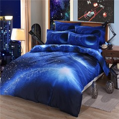 Traditional/Classic Polyester Cotton Comforters (4pcs :1 Duvet Cover 1 Flat Sheet 2 Shams)