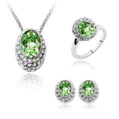Ladies ' Elegancki Stop/Platinum Plated Z owal Austriacki kryształ Zestawy biżuterii Panna młoda/Druhna