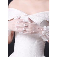 Spitze Handgelenk Länge Braut Handschuhe mit Spitze